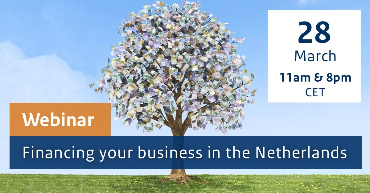 Summary image for  Webinar - Financing your business in the Netherlands